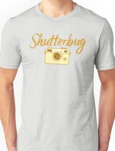 shutterbug (with cool photographic camera) Unisex T-Shirt