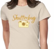 shutterbug (with cool photographic camera) Womens Fitted T-Shirt