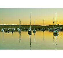 Sailboat Harbor Photographic Print