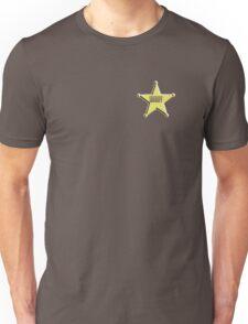 SHERIFF, Badge, The Law, Lawman, Cowboy, Wild West, Unisex T-Shirt