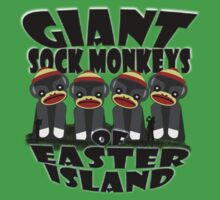 Giant Sock Monkeys of Easter Island One Piece - Short Sleeve