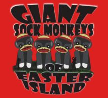 Giant Sock Monkeys of Easter Island Kids Clothes