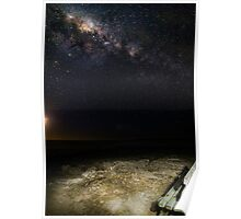 Seat under the Milky Way  Poster