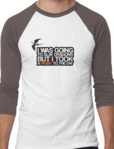 I was going to slay dragons... Men's Baseball ¾ T-Shirt
