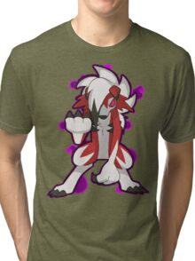 Pokemon - Lycanroc Midnight Form Tri-blend T-Shirt