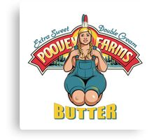 poovey farms butter Canvas Print