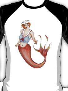 Sailor Mermaid Pin Up T-Shirt