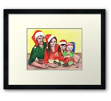 Caskett family at Christmas Framed Print