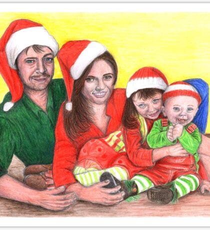 Caskett family at Christmas Sticker