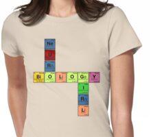 NEURO BIOLOGY GIRL - Periodic Elements Scramble! Womens Fitted T-Shirt