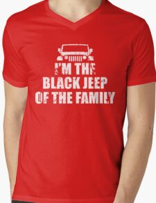 I'm The Black Jeep Of The Family, Gift for Jeep Lover, Funny Mens V-Neck T-Shirt