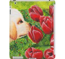 Puppy & Tulips iPad Case/Skin