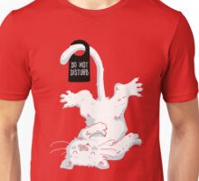 Do not disturb - Red Unisex T-Shirt