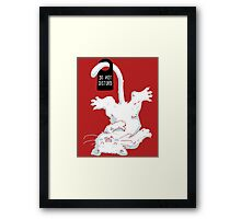 Do not disturb - Red Framed Print