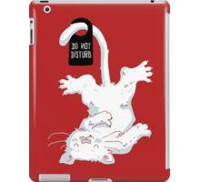 Do not disturb - Red iPad Case/Skin