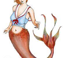Sailor Mermaid Pin Up by Amy-Elyse Neer