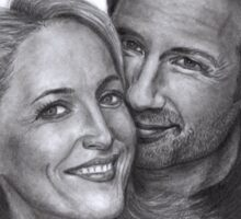Gillian Anderson and David Duchovny Sticker