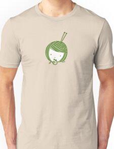 Green Knit girl Unisex T-Shirt