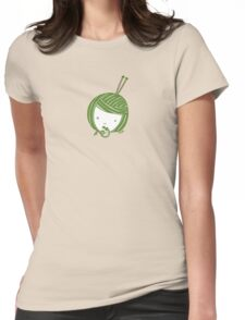 Green Knit girl Womens Fitted T-Shirt