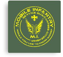Starship Troopers - Mobile Infantry Patch Canvas Print