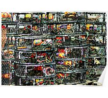 Crab Traps and Marker Buoys Poster