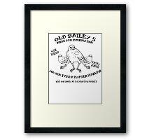 Old Bailey's Birds Framed Print