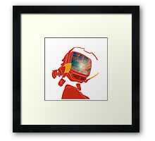 Psychedelic Canti without background Framed Print