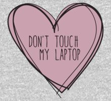 Don't touch my laptop One Piece - Long Sleeve