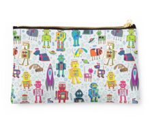 Robots in Space - grey Studio Pouch