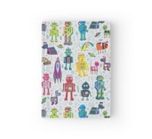 Robots in Space - grey Hardcover Journal