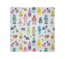Robots in Space - grey Scarf