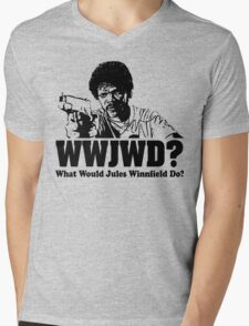WWJWD What Would Jules Do Mens V-Neck T-Shirt