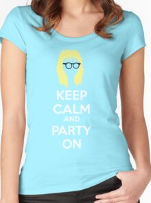 Keep Calm, and Party On Women's Fitted Scoop T-Shirt