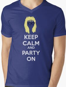 Keep Calm, and Party On Mens V-Neck T-Shirt