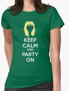 Keep Calm, and Party On Womens Fitted T-Shirt