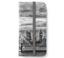 View from London Bridge in Black and White iPhone Wallet/Case/Skin