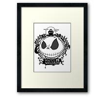 Happy Halloween Nightmare Style Framed Print