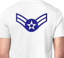 AIR FORCE, AIRMAN, FIRST CLASS, USA, US, America, American Unisex T-Shirt