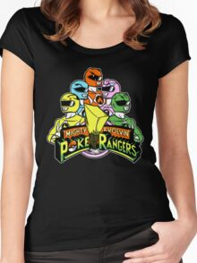 Poke Rangers Women's Fitted Scoop T-Shirt
