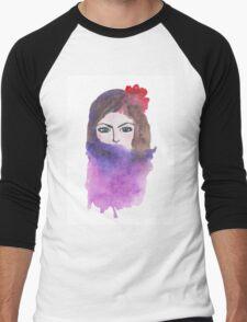 Beautiful girl Men's Baseball ¾ T-Shirt
