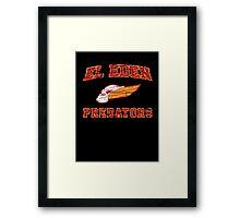Predators - American Football Style Framed Print