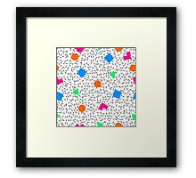 Got that 80s Vibe ! White Edition Framed Print