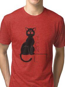Chat Noir de la Lune Tri-blend T-Shirt