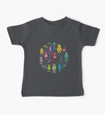 Robots in Space - grey Baby Tee