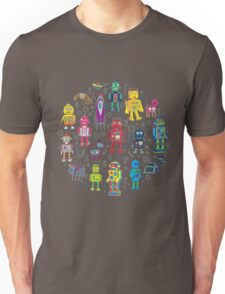 Robots in Space - grey Unisex T-Shirt