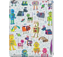 Robots in Space - grey iPad Case/Skin