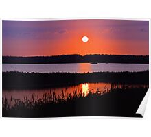 Sunset Over The Wetlands Poster