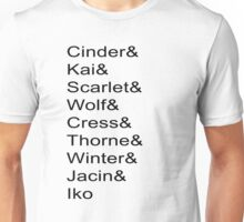 Lunar Chronicles Characters Unisex T-Shirt