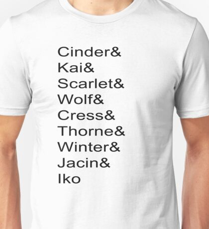 Lunar Chronicles Characters Unisex T-Shirt