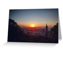 Freiburg Germany Sunset Greeting Card